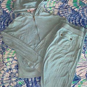 Juicy Couture Light Blue Tracksuit 2 Piece Set S P